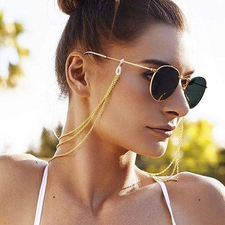 Brillen-Riemenhalter Silber Sonnenbrillen-Retainer Strap Yienate Bohemia Damen Brillenketten mit Legierung O-Kette Brillen-Zubeh/ör Brillen-Retainer