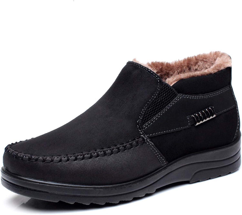 HBDLH Women's shoes In Winter Men'S Cotton shoes Old Beijing Cloth shoes High Plus Velvet Warm Men'S shoes Antiskid Daddy shoes.