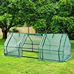 Outsunny 9' l x 3' w x 3' h portable tunnel greenhouse outdoor garden mini hot house with large zipper doors, water/uv… 12 ✅protect plants from the elements: bring all of your plants together in a unified and protected space with our garden greenhouse. Having everything in one place means our plant nursery helps you manage and grow your plants, fruits, vegetables, and flowers all year round. ✅updated design with 3 large doors: the 3 side doors of our plant nursery can be completely opened and rolled up with ties, thereby making a larger space & creating better ventilation. ✅let and keep the good stuff in: this small hot house features a pe mesh grid cover that is sun and water fighting to help protect plants while allowing nourishing sunlight to pass through. Furthermore, the cover helps retain heat during colder months.