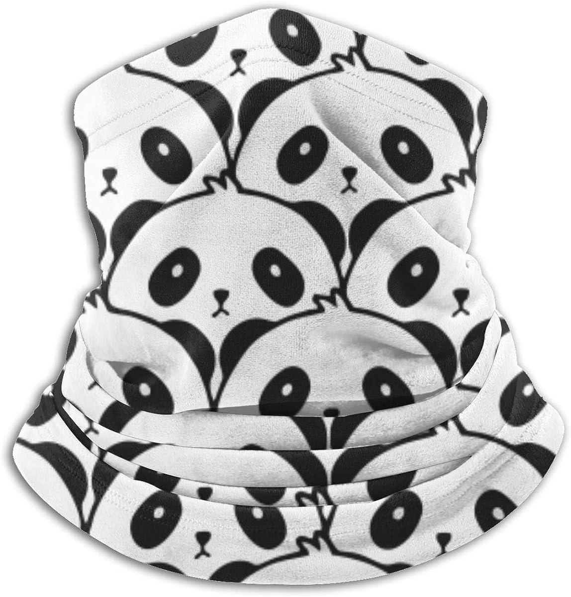 Fashion SARA NELL Neck Gaiter Funny Face Ma Ranking TOP12 Bandana Windproof Panda