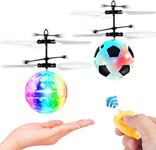 2 Pack Flying Ball Toys Drones, RC Flying Toy for Kids Boys Girls Gifts Hand Controlled Helicopter Infrared Induction Flyi...