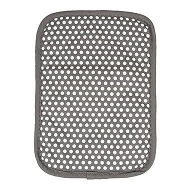RITZ Royale Reversible Non-Slip Grip Silicone Dot Cotton Twill Pot Holder, Graphite Grey