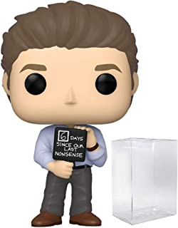 The Office - Jim Halpert with Nonsense Sign Pop Vinyl Figure (Bundled with Compatible Protector to Protect Display Box)