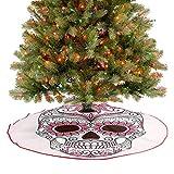Decoración de falda de árbol mexicana, adornos inspirados en Calavera Catrina, arte folklórico, maca...