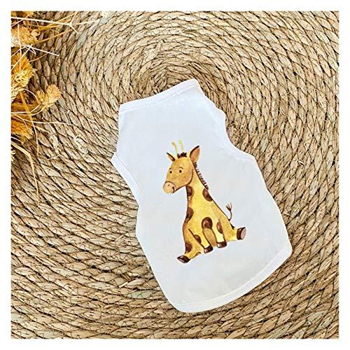 LIUCHANG Chaleco para mascotas a rayas, ropa de verano para cachorro, accesorio duradero, sin mangas, camiseta para perro, ropa de verano delgada para gatos (color: 7, tamaño: M) liuchang20