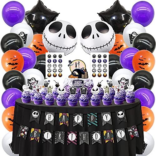 Cake Decor for Nightmare Before Christmas Cake Topper Cupcake Toppers Theme Birthday Party Supplies Favors Toppers Decorations