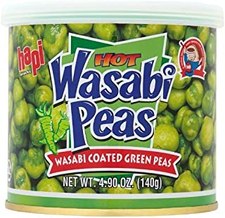 Hapi Hot Wasabi Peas, 4.9-Ounce Tins (Pack of 8) by HAPI