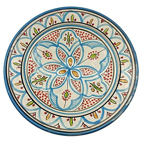Plato de cerámica terracota pared capacidad étnico marroquí Tunisino 2204211023