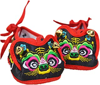 Tiger head shoes baby soft bottom shoes baby tiger head shoes pure hand cotton embroidery breathable