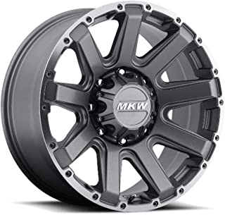 MKW Offroad M94 Satin Grey Wheel Finish and Machined Outer Ring (17 x 9. inches /8 x 170 mm, 10 mm Offset)