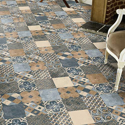 PVC Bodenbelag Fliese Blau Tarkett 260D Zaragoza Indigo (14,90 € p. m²) (Muster DIN A4)