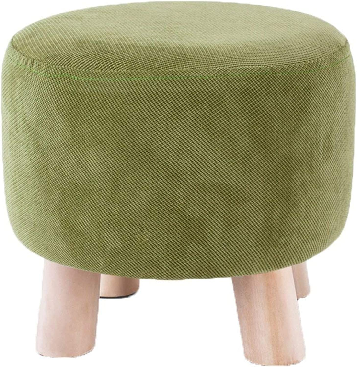 GJD Small Stool, Solid Wood Stool, shoes Bench, Stool, Sofa, Chair, Coffee Table, pier - Small Stool (color   D)