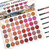 AmoVee 48 Colors Eyeshadow Palette and Makeup Brushes Set, Matte Shimmer Eye Shadow Pallete Waterproof and Sweatproof High Pigmented Metallic Color Professional Cosmetic Set