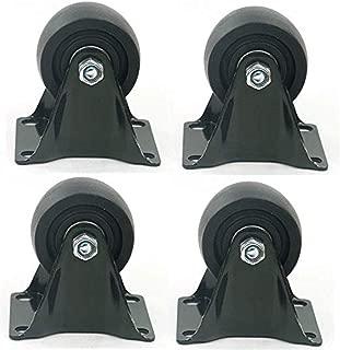 Noir DRS priostahl Lot de 4/roulettes en Plastique Rouleaux de roulettes pivotantes roulettes de Transport 32 mm