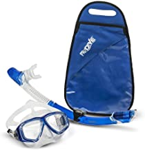 PRODIVE Premium Dry Top Snorkel Set - Impact Resistant Tempered Glass Diving Mask, Watertight and Anti-Fog Lens for Best V...