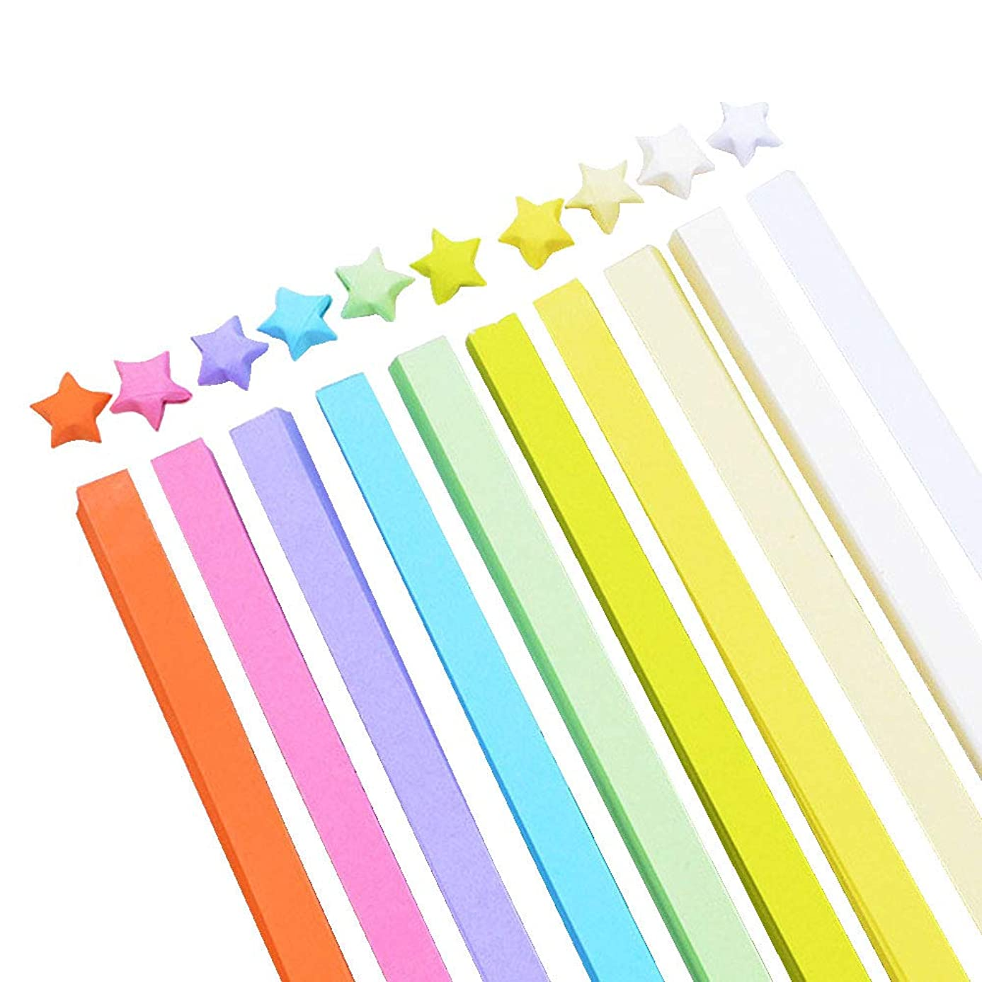 HanYoer 1030 Sheets Origami Paper Stars, Colorful Handcraft Origami Lucky Star Paper DIY Paper Arts Creativity (10 Colors)