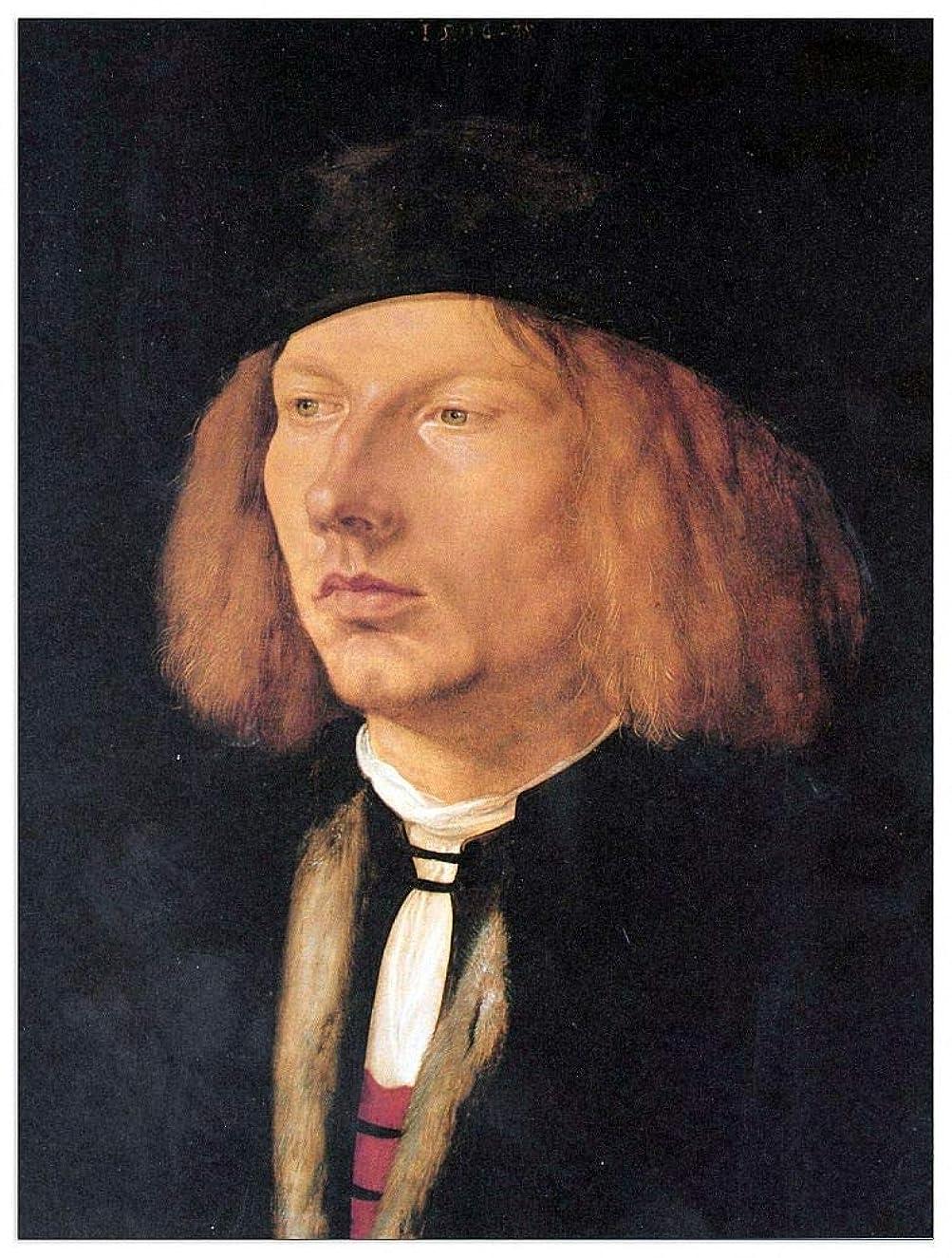 ArtPlaza TW93217 Albrecht Durer - Portrait of Burkard von Speyer Decorative Panel 27.5x35.5 Inch Multicolored