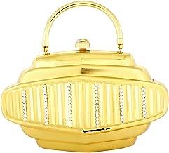 حقيبة كلاتش لون اصفر للنساء