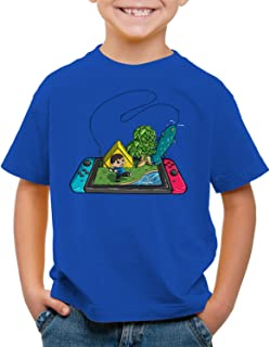 style3 Crossing Pez Camiseta para Niños T-Shirt Switch Animal Videojuego Horizons