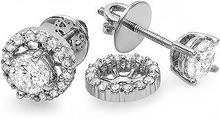 Best diamond stud halo earring jackets Reviews