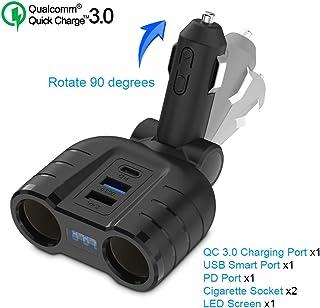USB-C PD Adaptador de cargador de automóvil, con salida de