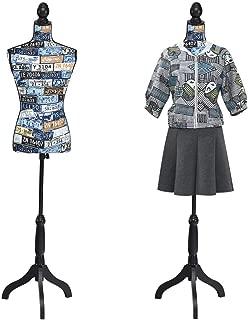 "Giatex Female Dress Form Mannequin Adjustable Height 52"" to 67"" Black Tripod.."
