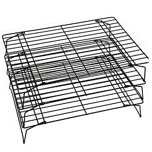 Rejilla de refrigeración 3 capas de enfriamiento antiadherente de la torta de metal para la torta de metal galletas de pan de refrigeración del pan de la colchoneta de la alfombrilla de la red del ref