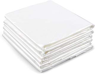 Painters Drop Cloths - 6-Piece Set of Plastic Drop Cloths, Disposable Sheet Covers for Painting, Interior Decorating, Furniture Protection, Craft Projects - 9 x 12 Feet