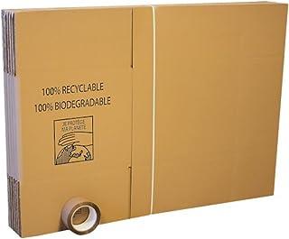 Pack con 10cajas para mudanza + 66 metros de adhesivo