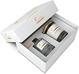 Scents Of Eden - Gift Set with Scented Candles + Reed Diffuser (Ginger Lemon - Fresh Memories)