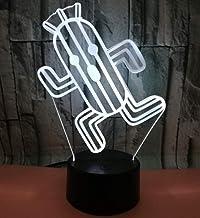 Cactus SFALHX 3D Illusion Stemmingslicht voor kinderen, 3D nachtlampje voor kinderen, 3D nachtlampje voor kinderen, kinder...