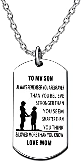 dog tag to my son love mom