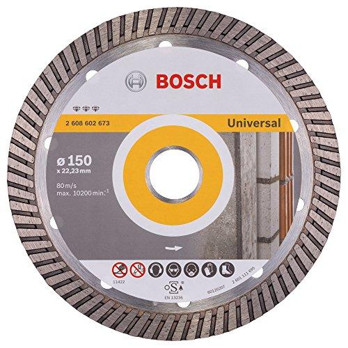 Preisvergleich Produktbild Bosch Professional Diamanttrennscheibe Best für Universal Turbo,  150 x 22, 23 x 2, 4 x 12 mm
