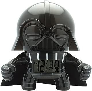 BulbBotz Star Wars Darth Vader Kids Light up Alarm Clock | Black/Gray | Plastic | 7.5 inches Tall | LCD Display | boy Girl | Official