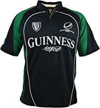 Guinness Black and Green Short Sleeve Performace Rugby Shirt