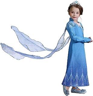 VanStar Snow Queen New Dress Girls Party Cosplay Girl Clothing Snow Queen Birthday Princess Dress Kids Costume Blue Costum...