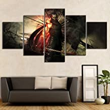 Artwap Canvas Paintings Wall Art for Home Decor 5 Piece Video Games Ninja Gaiden Poster Wall Stickers Ryu Hayabusa Ninja Pictures size1