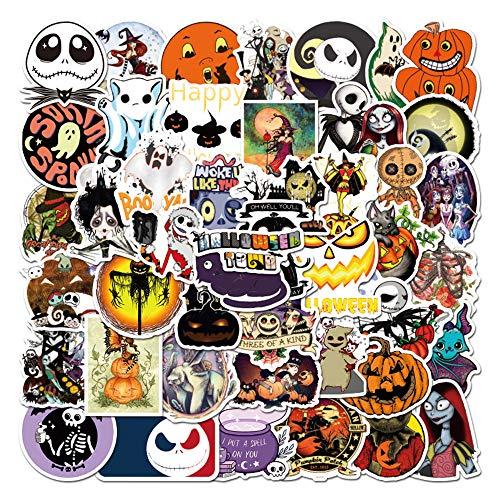 WayOuter Halloween Aufkleber 100 Stücke Stickers einzigartige Kühle Aufkleber Kind Teenager Notebook Gitarre Skateboard Reise Aufkleber Wasserdicht