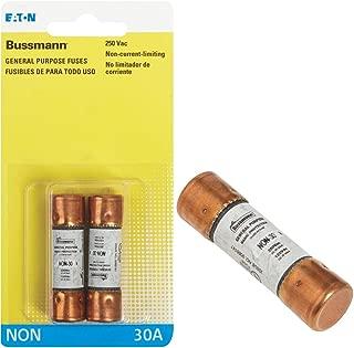 Bussman BP/NON-30 30 Amp 250 Volt Fast Acting Cartridge Fuses 2 Count