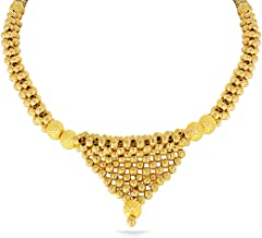 Candere By Kalyan Jewellers 22k (916) Yellow Gold Choker Necklace for Women