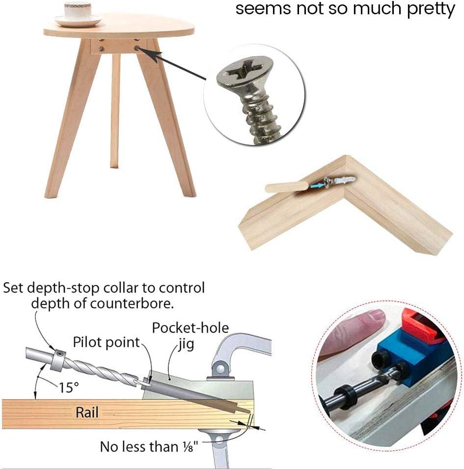 pour guides du trou de 6//8//10 mm pour guide de per/çage pour angle de travail du bois ATopoler Lot de 51 diima pour trous /à poche avec pointes de per/çage /à 15 /°