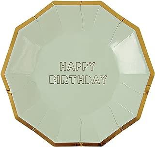 Meri Meri Happy Birthday Plates Large
