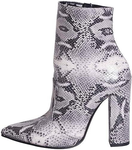 Chaussure Bottine Botte en Python Blanc et Noir Made in  Talon 10Excellent matériel mpr38 01
