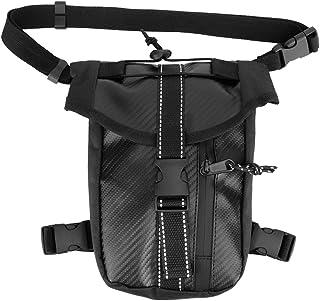 Aramox Fibra de carbono Estilo Moto Cintura Pierna Bolso bandolera Mochila impermeable Paquete de mochila