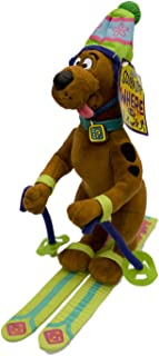 Scooby Doo Skiing Poseable Stuffed Animal Large Plush in Hat Skis with Poles