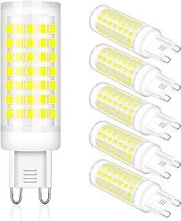LAOYEBAOHE 6W G9 LED Bulb T4 G9 Halogen Replace, AC220V -240V Chandelier Lighting Non-Dimmable/G9 Bi Pin Base /360 Degrees...
