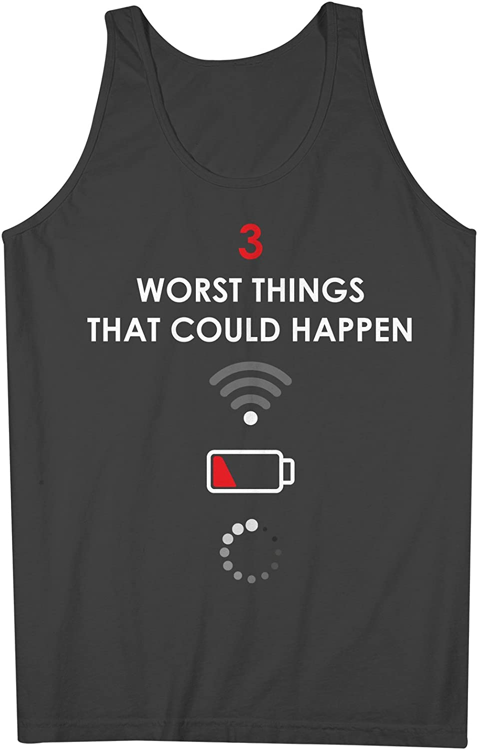 Worst Things That Could Happen おかしいです Computer IT Geek 男性用 Tank Top Sleeveless Shirt
