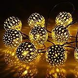 M.best Solar Lichterkette Aussen, 7M 50 LED Solarlichterkette für außen 8 Modi Wasserdicht...