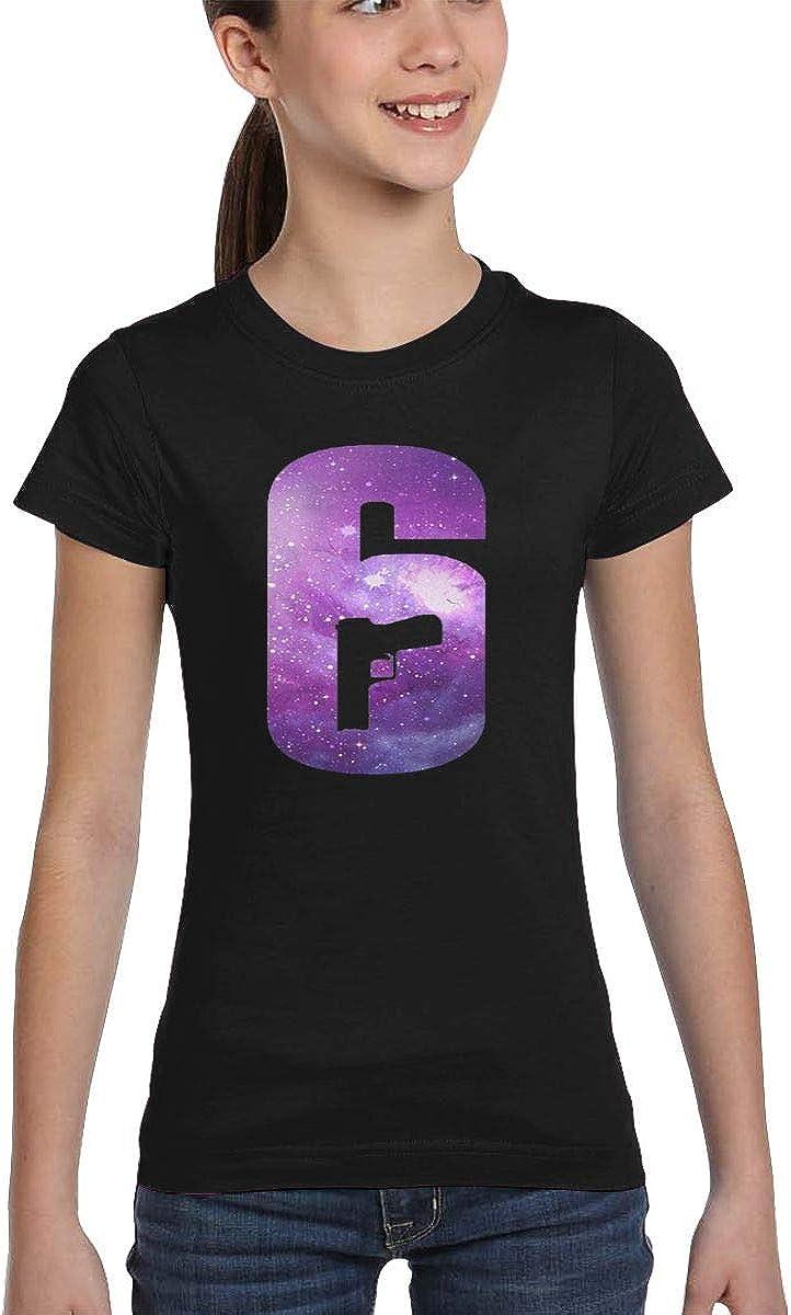 Girls' Tees Rainbow Six Siege Fashion Round Neck Short-Sleeve Sports Top Casual Wild