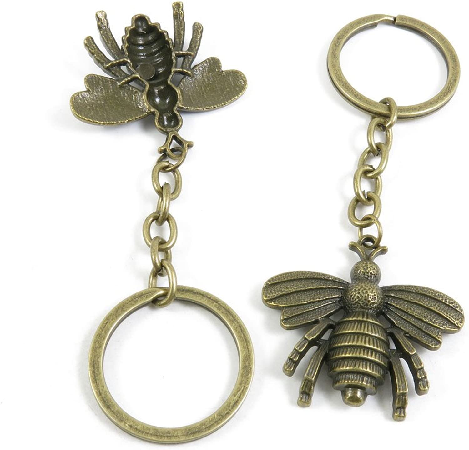 110 Pieces Fashion Jewelry Keyring Keychain Door Car Key Tag Ring Chain Supplier Supply Wholesale Bulk Lots K9HB6 Bees